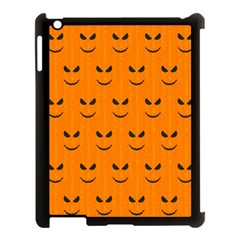 Funny Halloween   Face Pattern Apple Ipad 3/4 Case (black) by MoreColorsinLife