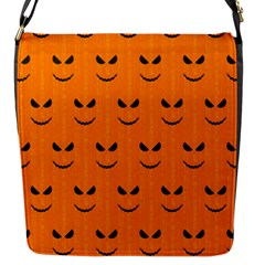 Funny Halloween   Face Pattern Flap Messenger Bag (s) by MoreColorsinLife