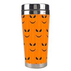 Funny Halloween   Face Pattern Stainless Steel Travel Tumblers by MoreColorsinLife