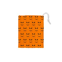 Funny Halloween   Face Pattern Drawstring Pouches (xs)  by MoreColorsinLife