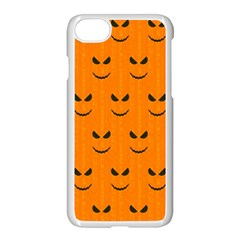 Funny Halloween   Face Pattern Apple Iphone 7 Seamless Case (white) by MoreColorsinLife