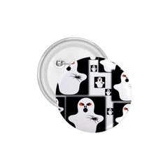 Funny Halloween   Ghost Pattern 2 1 75  Buttons by MoreColorsinLife