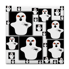 Funny Halloween   Ghost Pattern 2 Face Towel by MoreColorsinLife