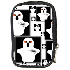 Funny Halloween   Ghost Pattern 2 Compact Camera Cases by MoreColorsinLife