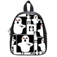 Funny Halloween   Ghost Pattern 2 School Bags (small)  by MoreColorsinLife