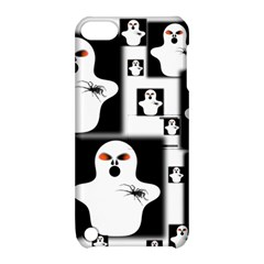 Funny Halloween   Ghost Pattern 2 Apple Ipod Touch 5 Hardshell Case With Stand