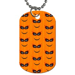Funny Halloween   Face Pattern 2 Dog Tag (two Sides) by MoreColorsinLife