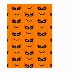 Funny Halloween   Face Pattern 2 Large Garden Flag (two Sides) by MoreColorsinLife