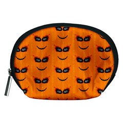 Funny Halloween   Face Pattern 2 Accessory Pouches (medium)  by MoreColorsinLife