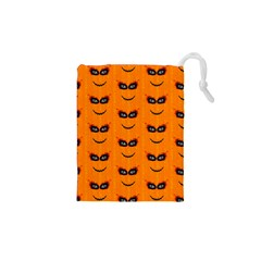 Funny Halloween   Face Pattern 2 Drawstring Pouches (xs)  by MoreColorsinLife