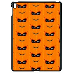 Funny Halloween   Face Pattern 2 Apple Ipad Pro 9 7   Black Seamless Case
