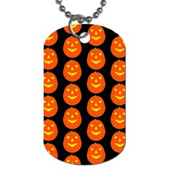 Funny Halloween   Pumpkin Pattern 2 Dog Tag (one Side) by MoreColorsinLife