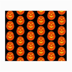 Funny Halloween   Pumpkin Pattern 2 Small Glasses Cloth (2 Side) by MoreColorsinLife