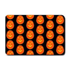 Funny Halloween   Pumpkin Pattern 2 Small Doormat  by MoreColorsinLife