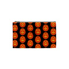 Funny Halloween   Pumpkin Pattern 2 Cosmetic Bag (small)  by MoreColorsinLife
