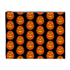 Funny Halloween   Pumpkin Pattern 2 Cosmetic Bag (xl) by MoreColorsinLife