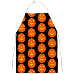 Funny Halloween   Pumpkin Pattern 2 Full Print Aprons by MoreColorsinLife