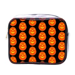 Funny Halloween   Pumpkin Pattern 2 Mini Toiletries Bags by MoreColorsinLife