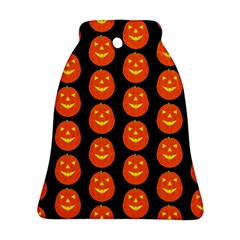 Funny Halloween   Pumpkin Pattern 2 Bell Ornament (two Sides) by MoreColorsinLife