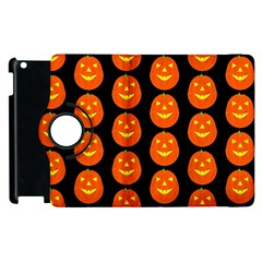 Funny Halloween   Pumpkin Pattern 2 Apple Ipad 2 Flip 360 Case by MoreColorsinLife