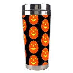 Funny Halloween   Pumpkin Pattern 2 Stainless Steel Travel Tumblers by MoreColorsinLife