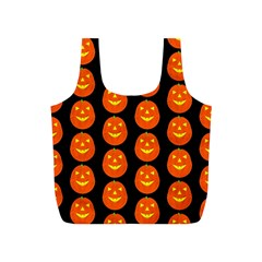 Funny Halloween   Pumpkin Pattern 2 Full Print Recycle Bags (s)  by MoreColorsinLife