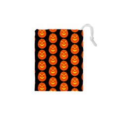 Funny Halloween   Pumpkin Pattern 2 Drawstring Pouches (xs)  by MoreColorsinLife