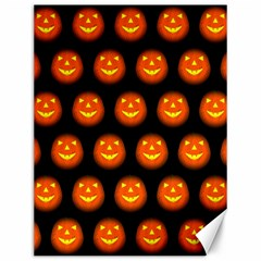 Funny Halloween   Pumpkin Pattern Canvas 12  X 16   by MoreColorsinLife