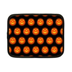 Funny Halloween   Pumpkin Pattern Netbook Case (small)  by MoreColorsinLife