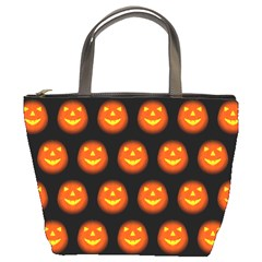 Funny Halloween   Pumpkin Pattern Bucket Bags by MoreColorsinLife