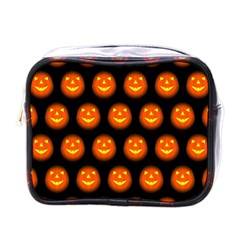 Funny Halloween   Pumpkin Pattern Mini Toiletries Bags by MoreColorsinLife