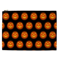 Funny Halloween   Pumpkin Pattern Cosmetic Bag (xxl)  by MoreColorsinLife