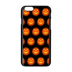 Funny Halloween   Pumpkin Pattern Apple Iphone 6/6s Black Enamel Case by MoreColorsinLife