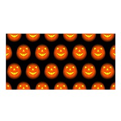 Funny Halloween   Pumpkin Pattern Satin Shawl by MoreColorsinLife
