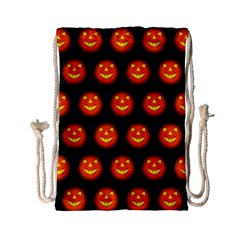 Funny Halloween   Pumpkin Pattern Drawstring Bag (small) by MoreColorsinLife