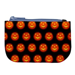 Funny Halloween   Pumpkin Pattern Large Coin Purse by MoreColorsinLife
