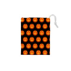 Funny Halloween   Pumpkin Pattern Drawstring Pouches (xs)  by MoreColorsinLife