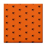 Funny Halloween   Spider Pattern Tile Coasters Front
