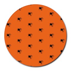 Funny Halloween   Spider Pattern Round Mousepads
