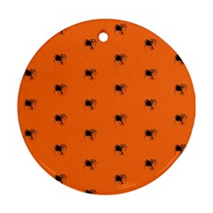 Funny Halloween   Spider Pattern Ornament (Round)