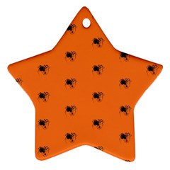 Funny Halloween   Spider Pattern Ornament (Star)