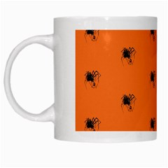 Funny Halloween   Spider Pattern White Mugs