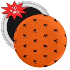 Funny Halloween   Spider Pattern 3  Magnets (10 pack)