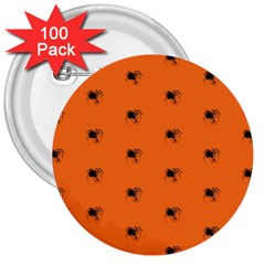 Funny Halloween   Spider Pattern 3  Buttons (100 pack)