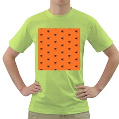 Funny Halloween   Spider Pattern Green T-Shirt