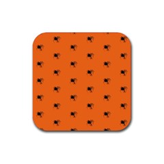 Funny Halloween   Spider Pattern Rubber Square Coaster (4 pack)