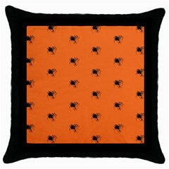 Funny Halloween   Spider Pattern Throw Pillow Case (Black)