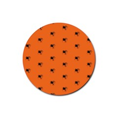 Funny Halloween   Spider Pattern Rubber Round Coaster (4 pack)