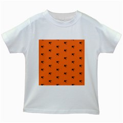 Funny Halloween   Spider Pattern Kids White T-Shirts