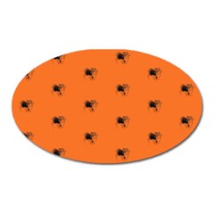 Funny Halloween   Spider Pattern Oval Magnet